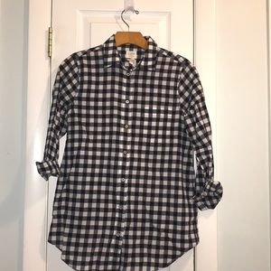 J crew navy button down